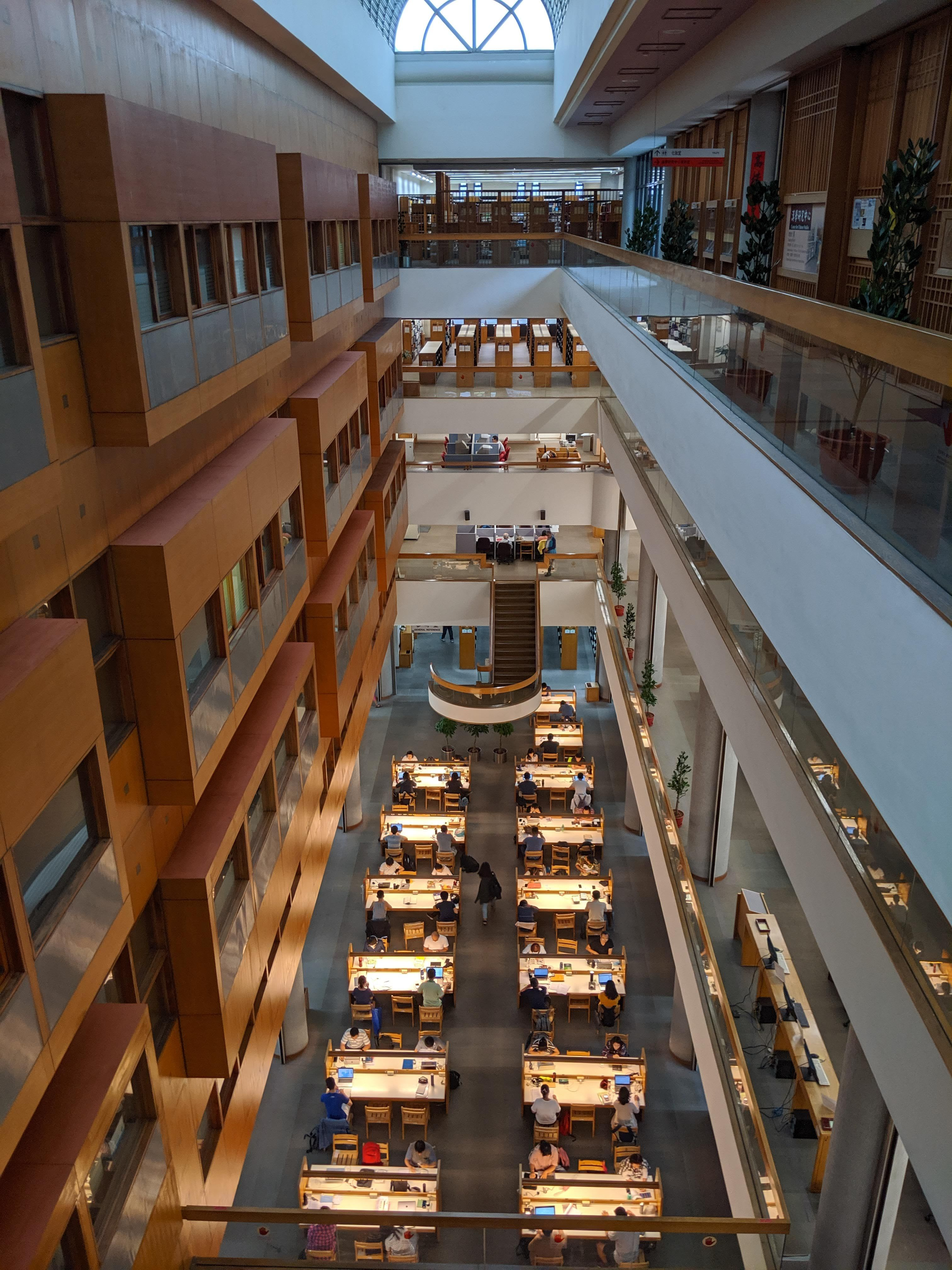 Photo of the interior of Taiwan National Library.